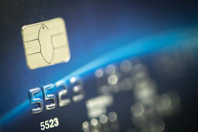 Credit card representation.